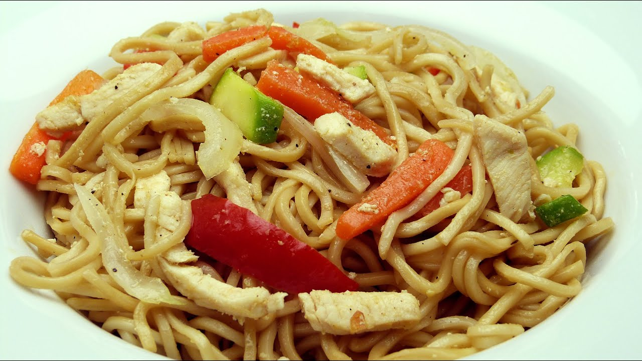 Chicken and vegetable noodles recipe basic and easy youtube chicken and vegetable noodles recipe basic and easy forumfinder Images