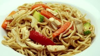 Chicken And Vegetable Noodles Recipe - Basic And Easy