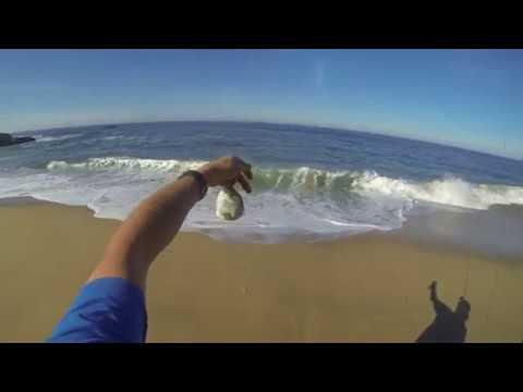 Surfperch Fishing North Of Santa Cruz Using Gulp Sandworms - March 2017