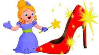 LITTLE PRINCESS NEW MAGIC SHOES ❤ SUPERHERO PLAY DOH CARTOONS FOR KIDS