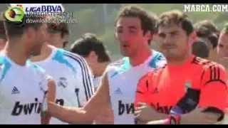 Higuaín joking during pre-season 2012/13