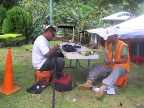 Splicing Fiber In American Samoa