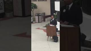 Prof. Perry Martin performs 'I have a Dream' to commemorate Black History Month