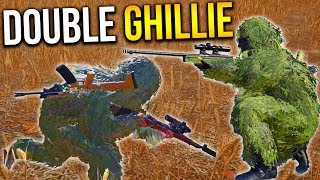 GHILLIE SNIPER DUO PLAYERUNKNOWN