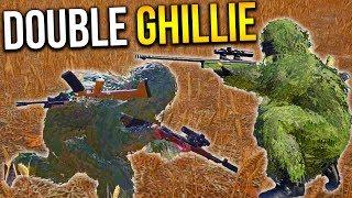 GHILLIE SNIPER DUO PLAYERUNKNOWN'S BATTLEGROUNDS Gameplay