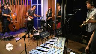 "Calexico and Gaby Moreno performing ""Cumbia de Donde"" Live on KCRW"