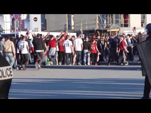 Lyon-Besiktas fighting