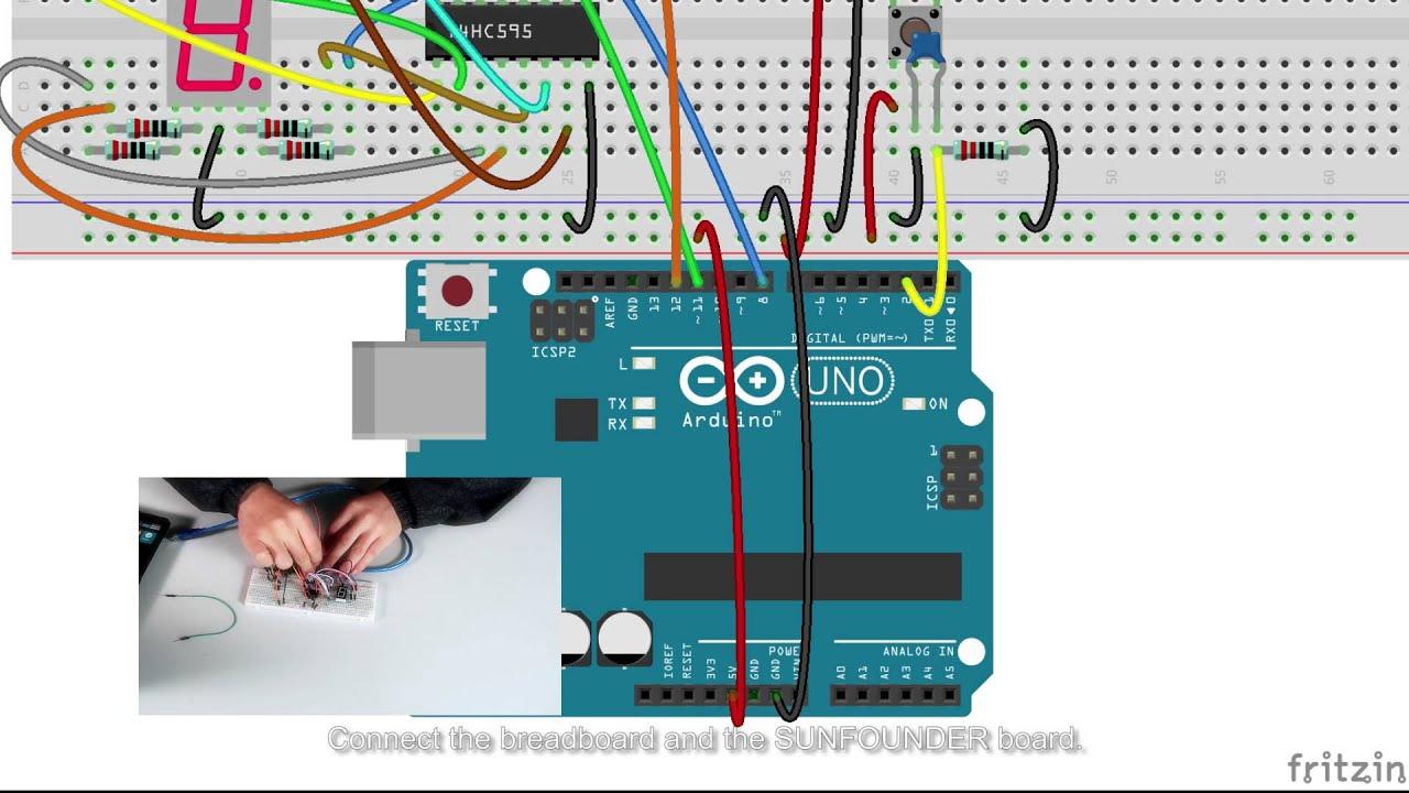 Sunfounder Kit Turorial For Arduino Digital Dice Youtube Circuit Diagram
