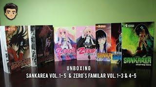 UNBOXING SANKAREA MANGA VOLS. 1-5 & Zero's Familiar vol. 1-3 & 4-5