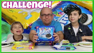 Oreo Tasting Challenge - Cookie Family Fun Eating Game