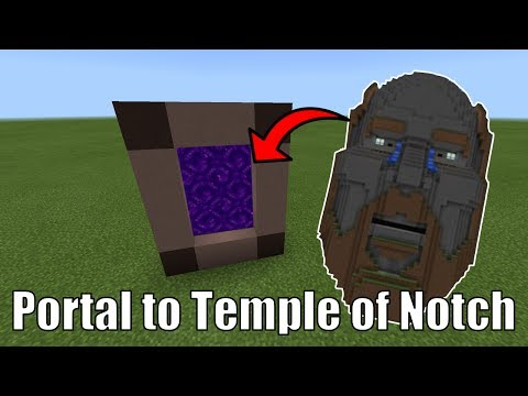 How To Make a Portal to the TEMPLE OF NOTCH in Minecraft Pocket Edition