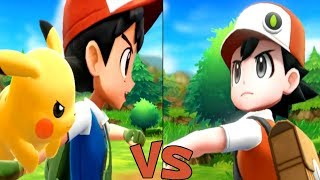 Ash vs Red in Pokemon Lets Go Pikachu and Eevee