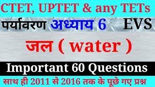 Samvidha, CTET & any TETs पर्यावरण अध्ययन (जल )के 60 अति महत्वपूर्ण प्रश्न