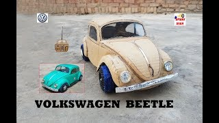 WOW! Super RC Volkswagen Beetle 1965 || How to make Cardboard Beetle || DIY ||  Electric Toy Car