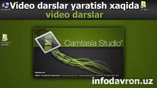 1. Camtasia studio dasturini o'rnatish. (Ekranni videoga olish uchun)