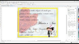Como fazer efeito convite de casamento Corel Draw x7
