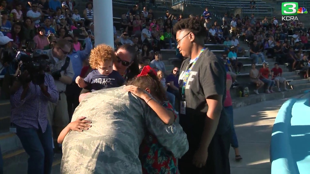 WATCH: Deployed airman returns home, surprises family