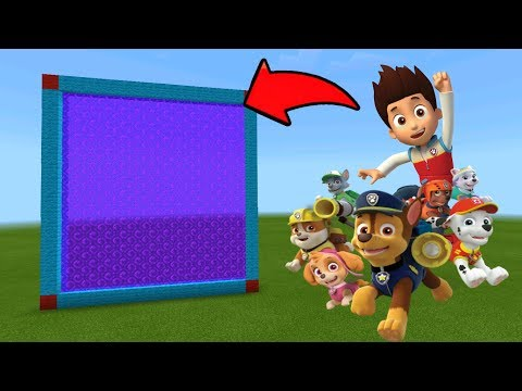 Minecraft Pe How To Make a Portal To The PAW Patrol Dimension - Mcpe Portal To PAW Patrol!!!