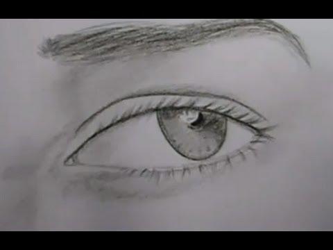 Aprende A Dibujar Ojos Semirealistas Como Dibujar Ojos Youtube