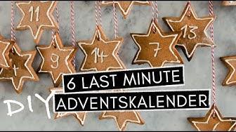 6 DIY Last-Minute-Adventskalender - schnelle & einfache Ideen für die ALLERletzte Minute