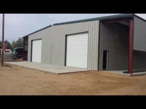 Metal rv storage building youtube for Motorhome storage building