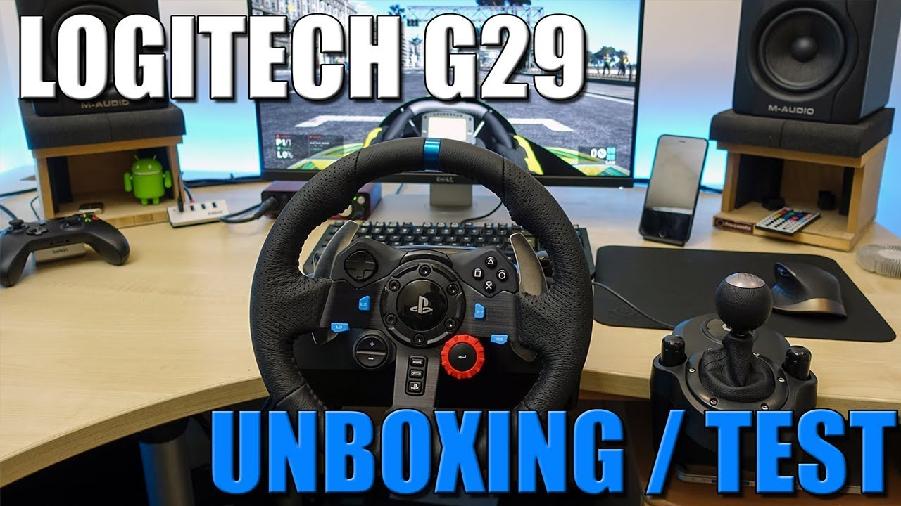 logitech g29 un volant pour ps4 unboxing test fr. Black Bedroom Furniture Sets. Home Design Ideas