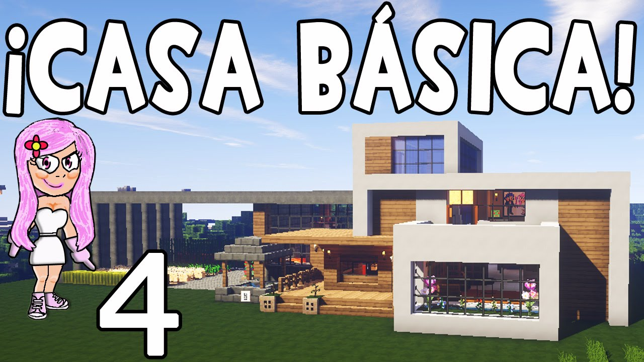 Casa b sica moderna en minecraft parte 4 ampliaci n for Casa moderna 9 mirote y blancana