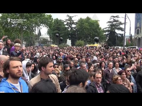 Thousands continue protesting in Georgia
