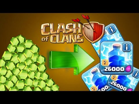 Clash Of Clans - GEMMING NEW SPELL!