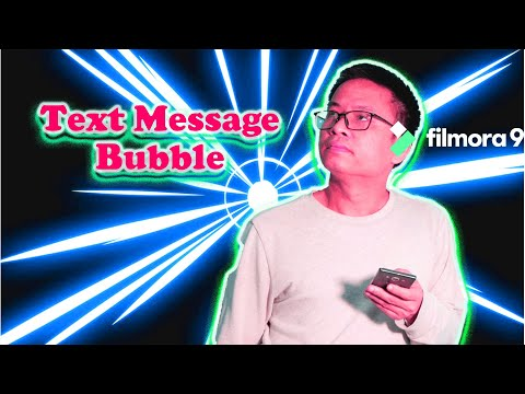 Animated Text Message Bubble Effect | Filmora 9 Tutorial