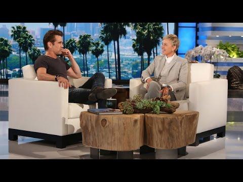 Colin Farrell Celebrates with Ellen