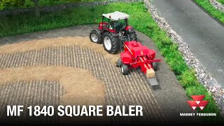 MF 1840 Square Baler | Animation