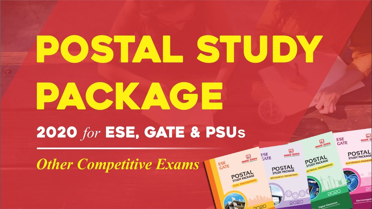 Postal Study Material for GATE 2020 & IES/ESE 2020   MADE EASY