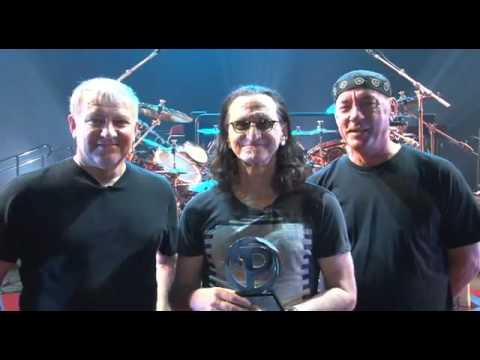 """Clockwork Angels"" - Album Of The Year Progressive Music Award acceptance by RUSH"
