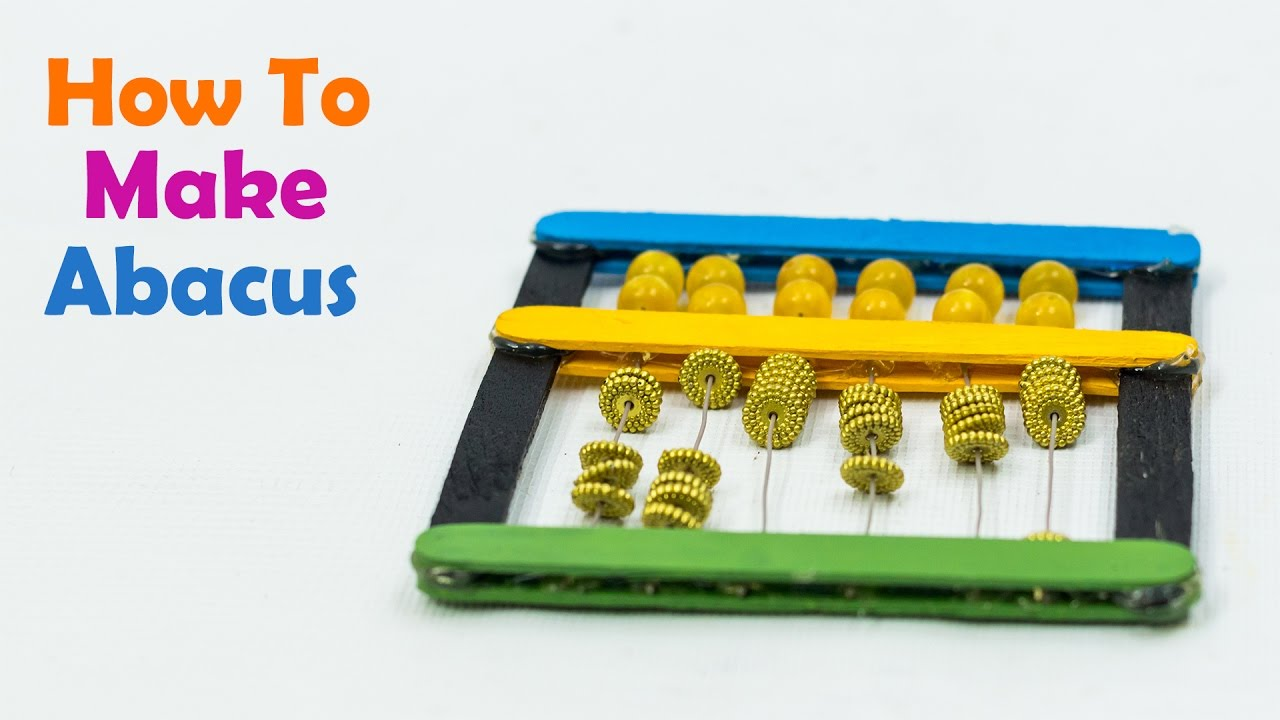 How To Make A Abacus For Kids - YouTube