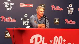 Chase Utley talks about being honored by the Phillies