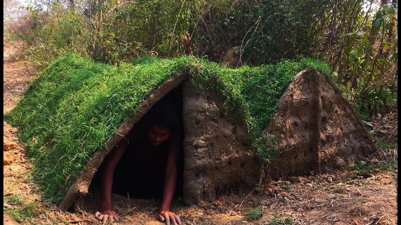 Secret Of Primitive: Building Underground House