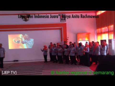 "Lagu ""Pos Indonesia Juara"" dipersembahkan untuk Negeri ini."