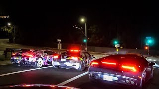 INSANE 750HP AUDI S7 TROLLS Lamborghinis…Need For Speed In Real Life
