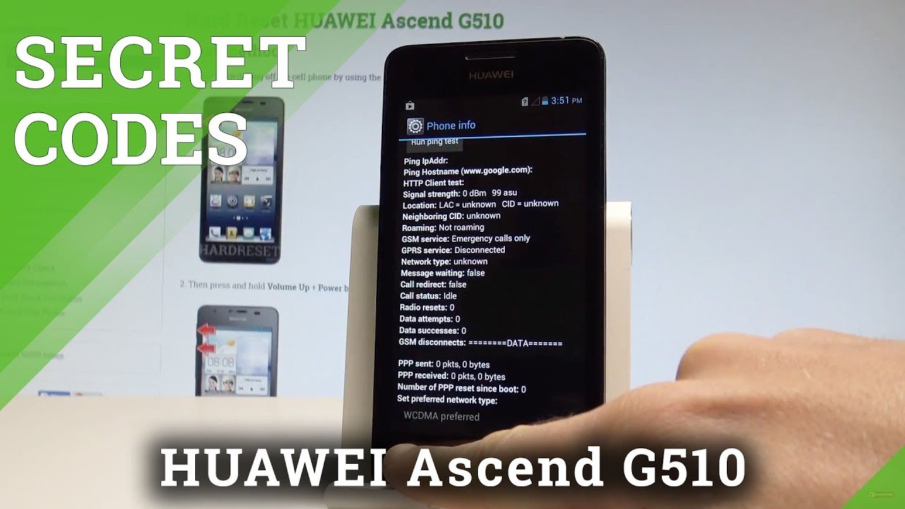 How to Use Secret Codes on HUAWEI Ascend G510 - Hidden Modes / Tricks &  Tips |HardReset Info