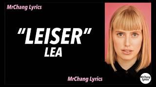 LEA - Leiser (LYRICS/English Translations)