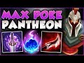 WTF?? ONE PANTHEON Q DOES HOW MUCH DMG?? FULL AD PANTHEON SEASON 8 TOP GAMEPLAY! - League of Legends