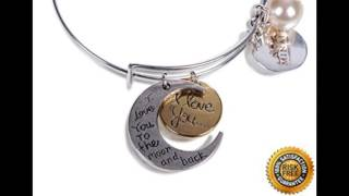 Fashion Jewelry Bracelets From Minals I Love You to the Moon and Back! Sentimental Jewelry For Best