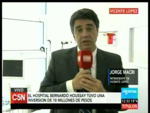 C5N - Sociedad: Habla el intendente Jorge Macri en el Hospital Municipal Houssay de Vicente Lopez