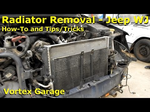 How to Remove the Radiator on a Jeep WJ Grand Cherokee & Tips!  - Vortex Garage Ep. 25