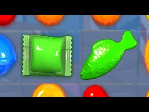 Candy crush crazy fish wrapped bomb combo youtube for Candy crush fish