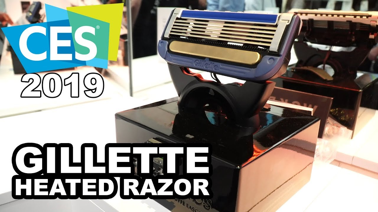 GILLETTE Heated Razor at CES 2019!