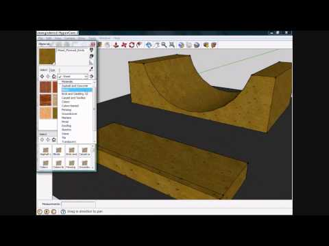 How to make a skate park in google sketch up