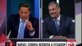 Dura discusión Fernando del Rincón vs Rafael Correa en Conclusiones