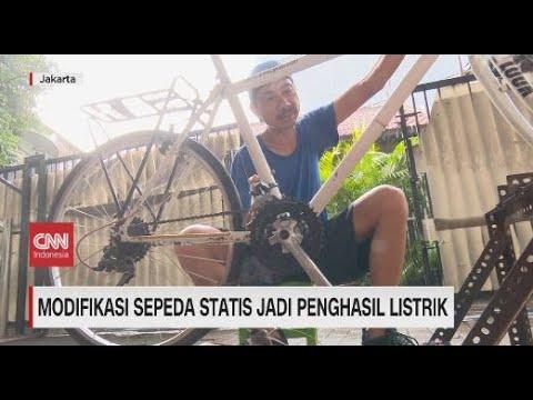 Modifikasi Sepeda Statis Jadi Penghasil Listrik Youtube